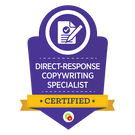 Picture: Direct-Response Copywriting Specialist certification from DigitalMarketer as provided by Credly Link: https://t.cred.ly/5SSqlPOtoRzKgOsWjir_Og,,$$$Rth6ma7GHyAIPqPEDF2QFwfpYliqg-LyRgr2FKpq9FsevKrDfjJO49shbqOlsdtT3qCRNQ6U13vwx4jF-WfqCC0g1LgZarfrlB6ymTCxtR0,?r=https%3A%2F%2Fcredly.com%2Fcredit%2F17026166&t=1553214737&c=sl
